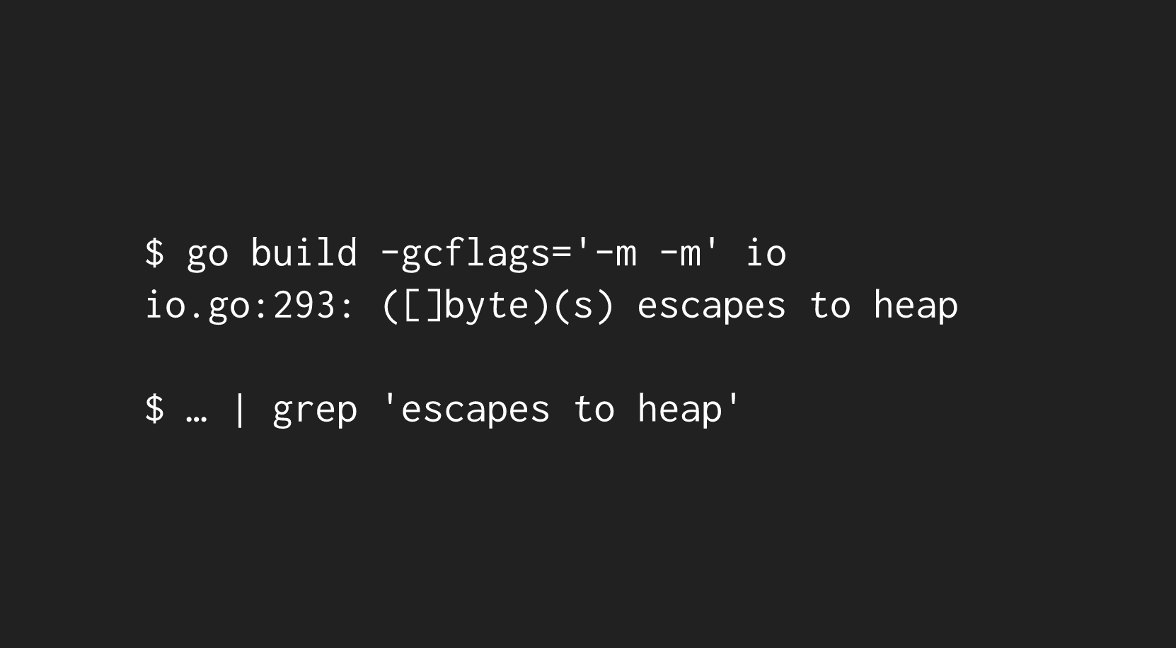 compiler heap
