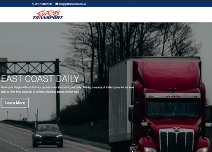 Gr8 Transport Website Screenshot