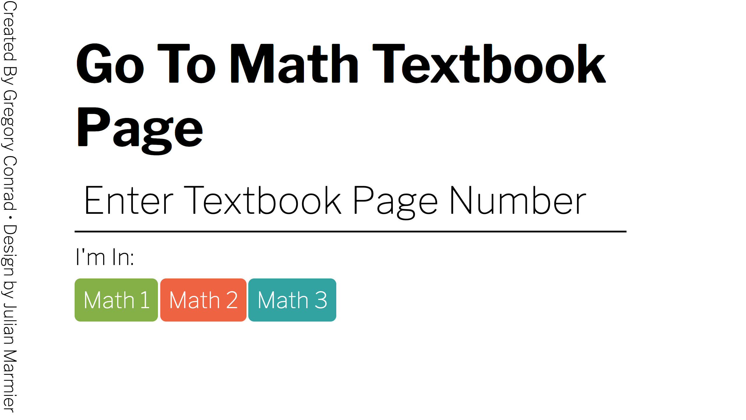 Go To Math Texbook Page - Website