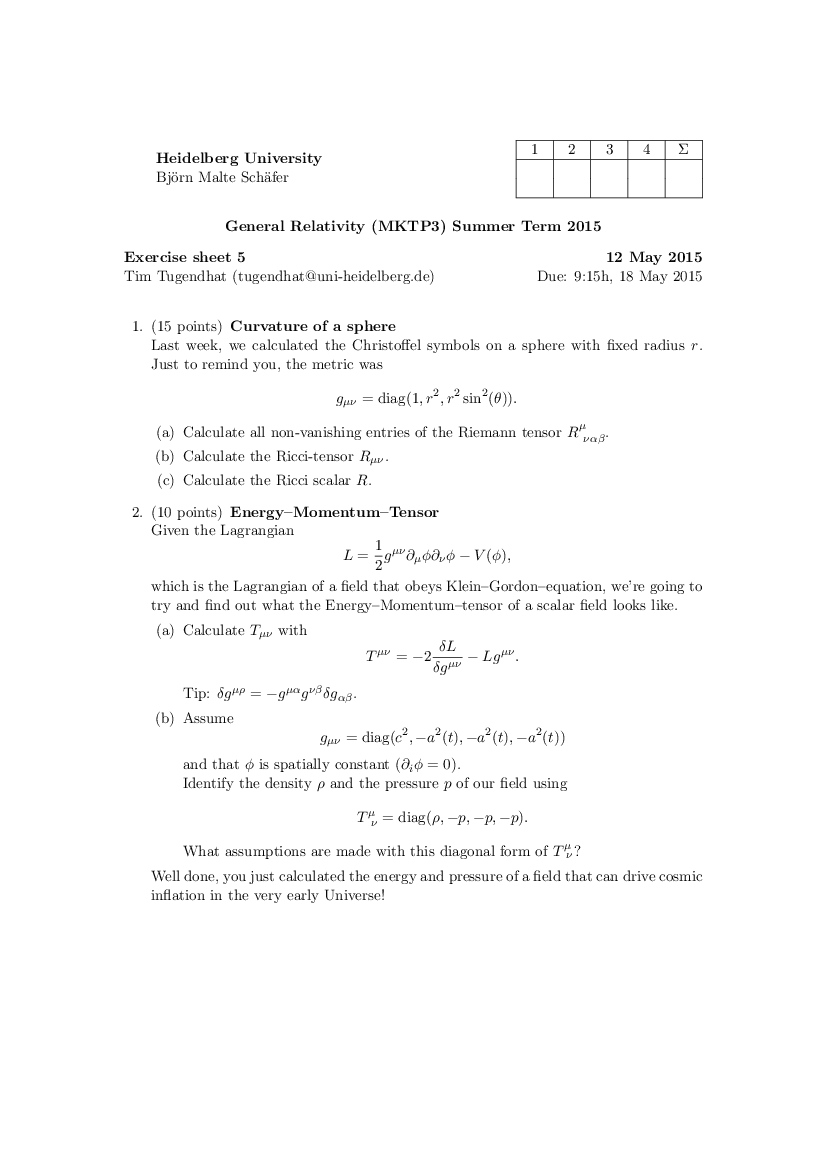 General Relativity | janosh io