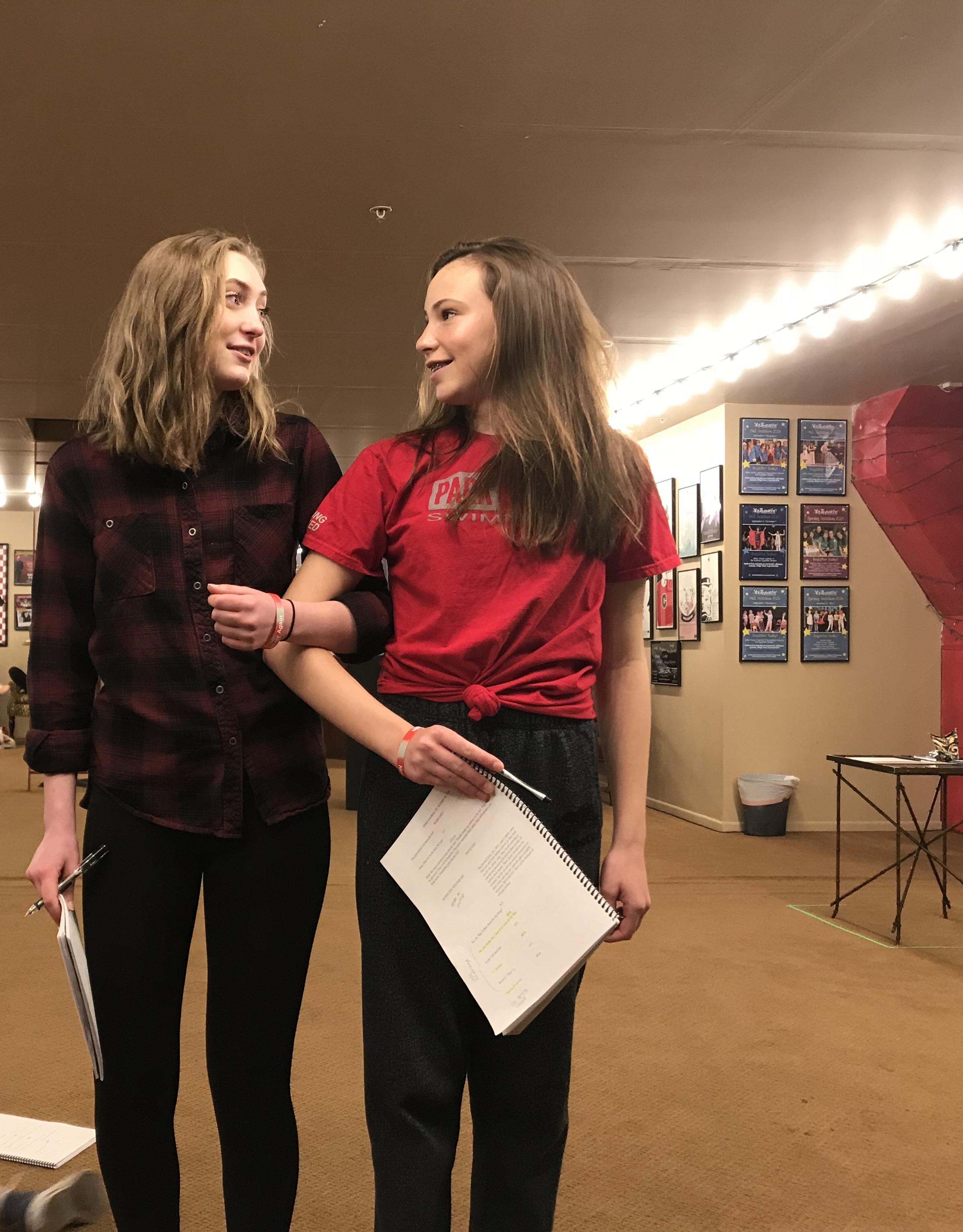 Rehearsal photo from CHEERLEADERS VS. ALIENS.
