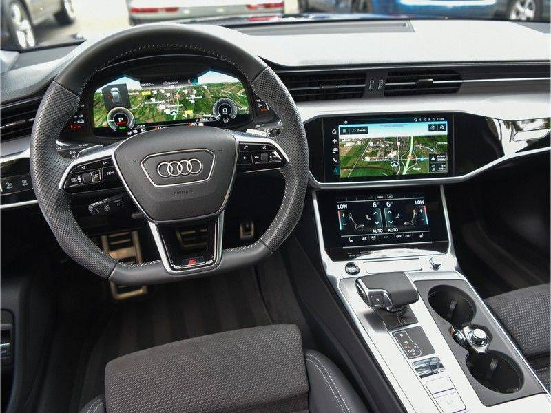 Audi A6 Avant 55TFSI 367pk S-Line Quattro Black Optic Navarra Pano Led Zetels Audi-Sound M-Led Priveglas afbeelding 21
