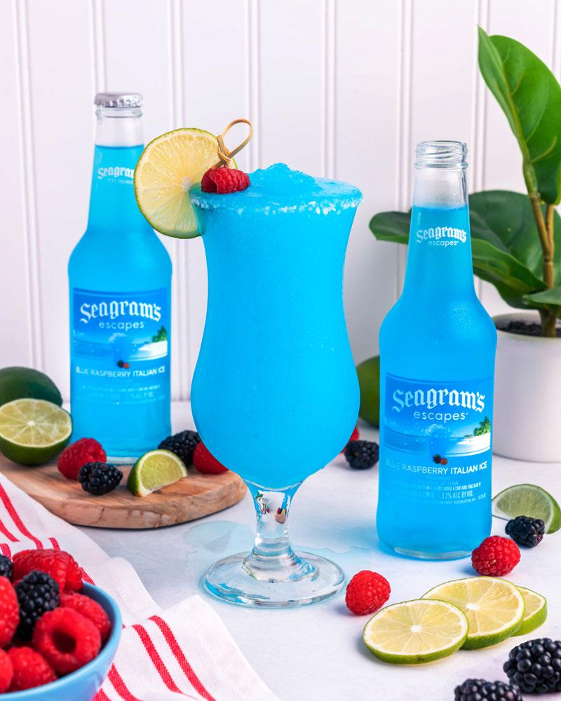 Frozen Blue Raspberry Margarita Recipe Image