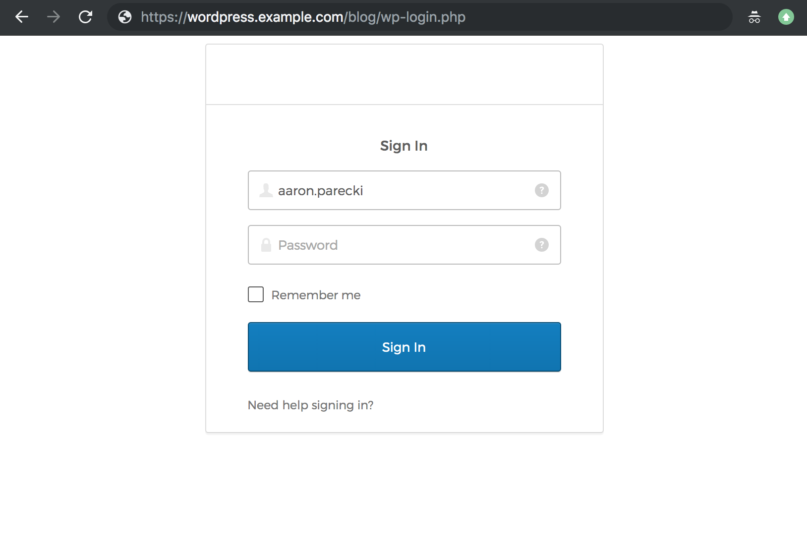 WordPress Authentication