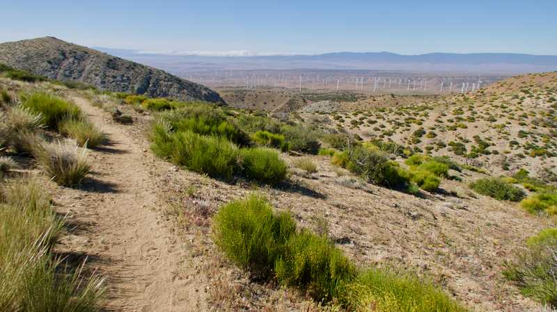 Looking back to Antelope Valley