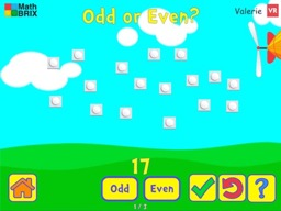 Determine if a number within 20 is odd or even Math Game