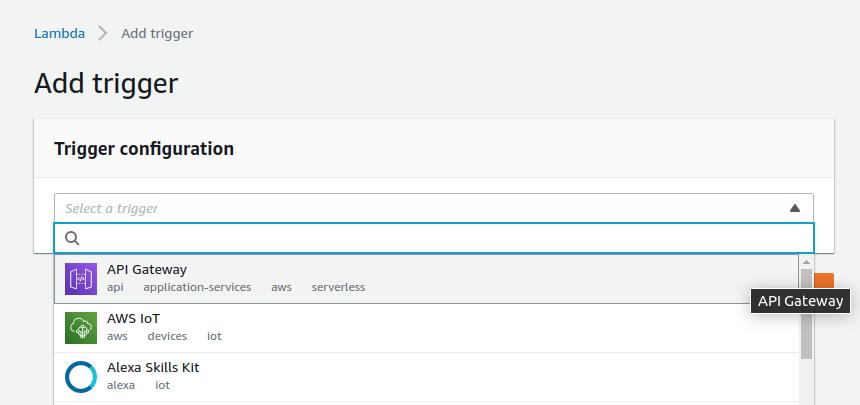 Add an API Gateway Trigger