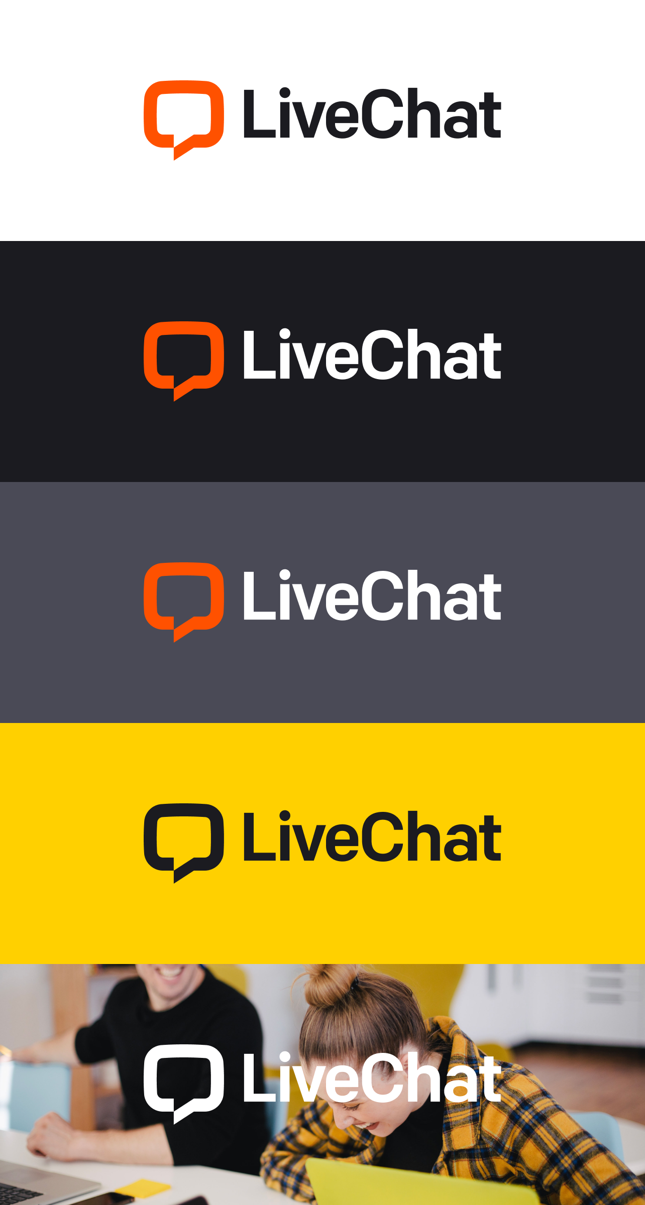 LiveChat logo background usage
