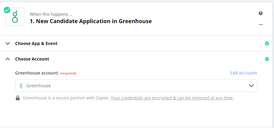connect Greenhouse account