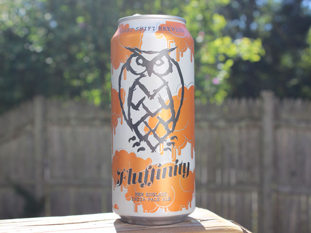 Fluffinity, a New England IPA brewed by Night Shift Brewing.