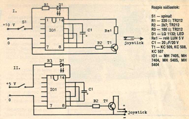 Autofire pre Spektrum - schéma zariadenia