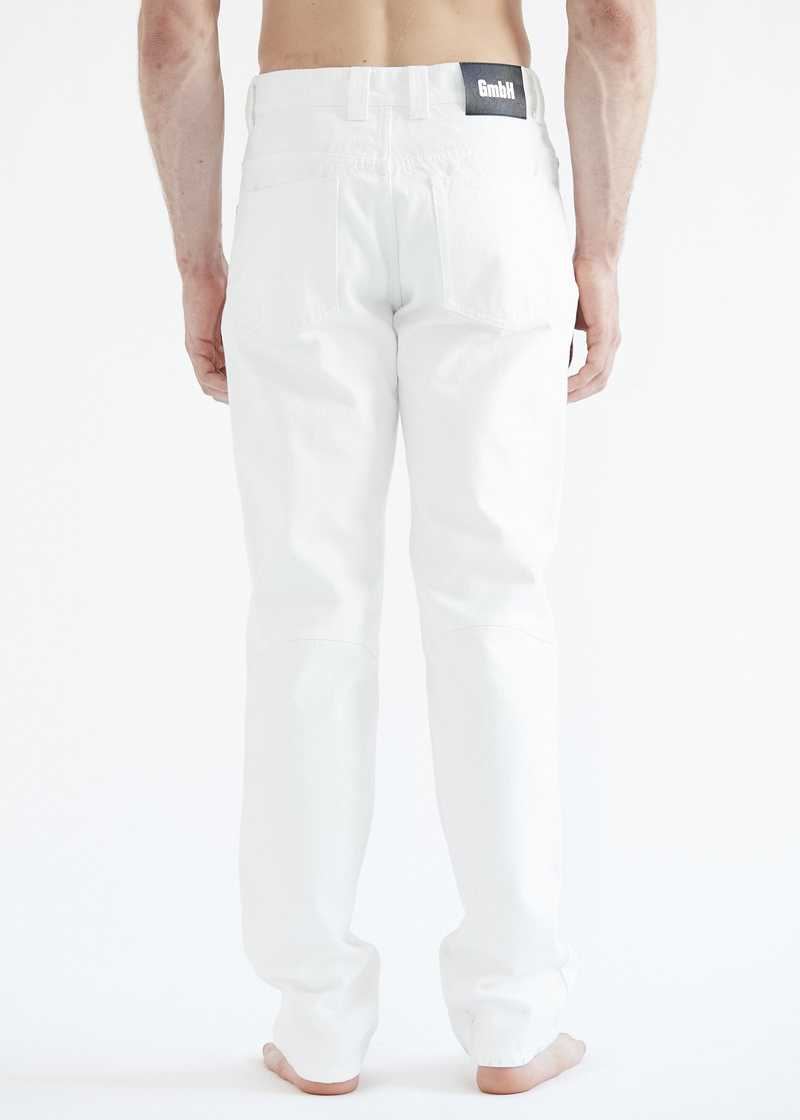Darveesh jeans white for men. GmbH SS20 collection.