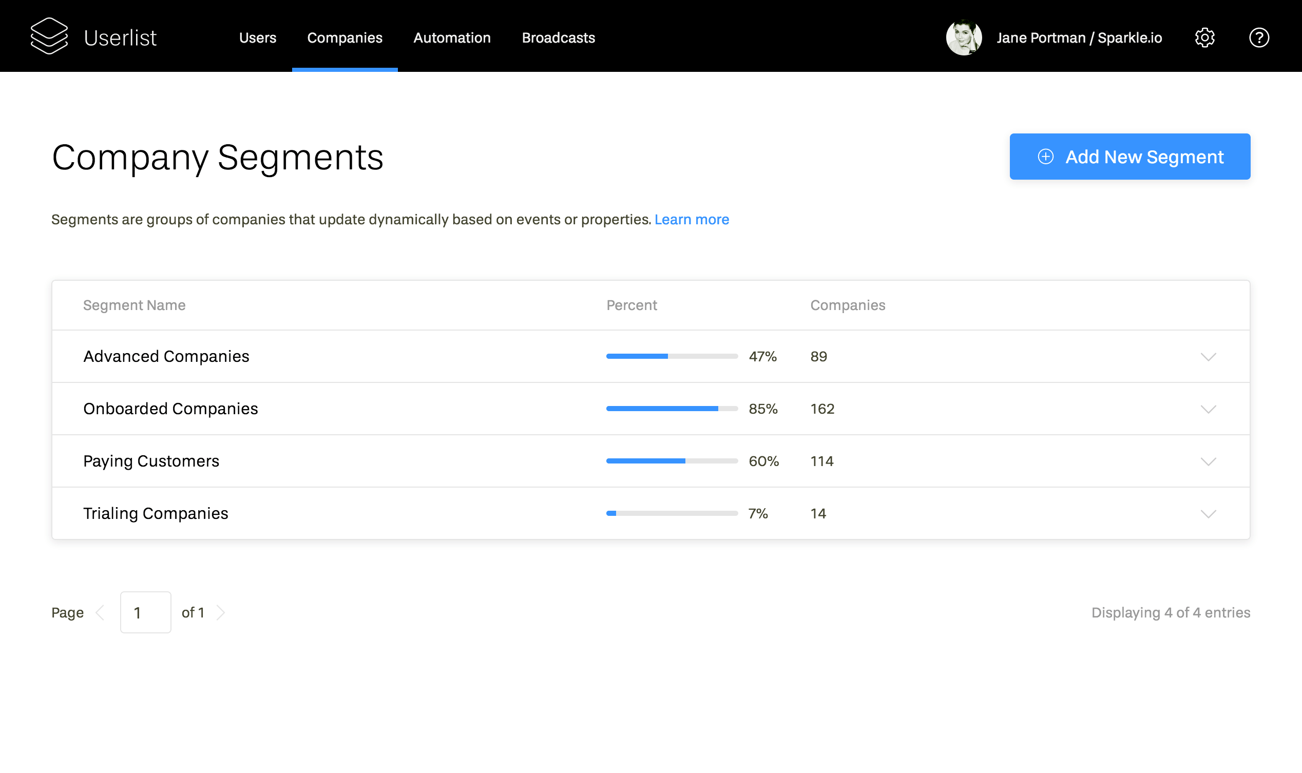Segment your users and companies