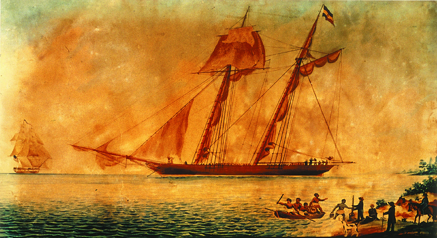 The schooner Amistad is one of thousands of slave ships included in the new Intra-American Slave Trade Database. Its African captives revolted in 1839 while the Amistad was transporting them from one end of Cuba to the other, as chronicled in the 1997 Steven Spielberg blockbuster movie.