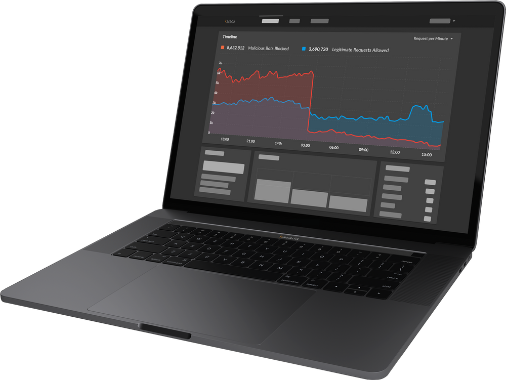 Kasada Dashboard on Laptop