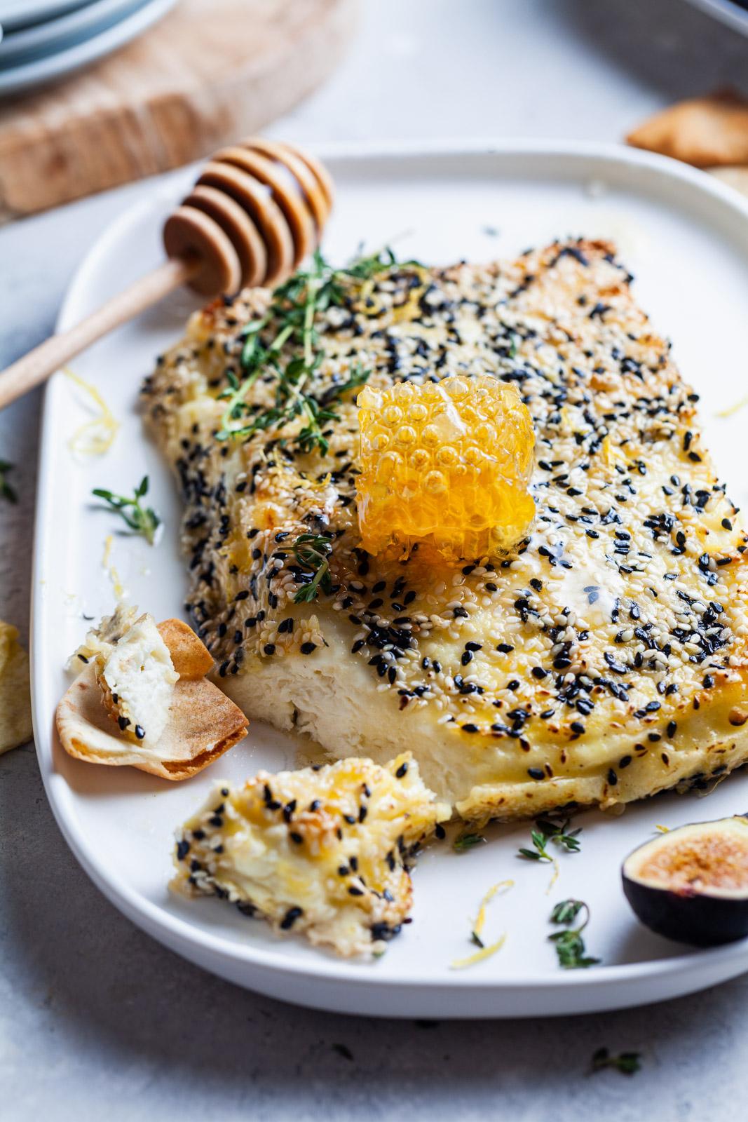 Baked Sesame Crusted Feta