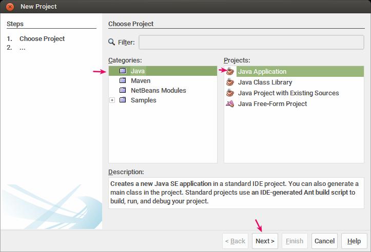 Choosing a Java project