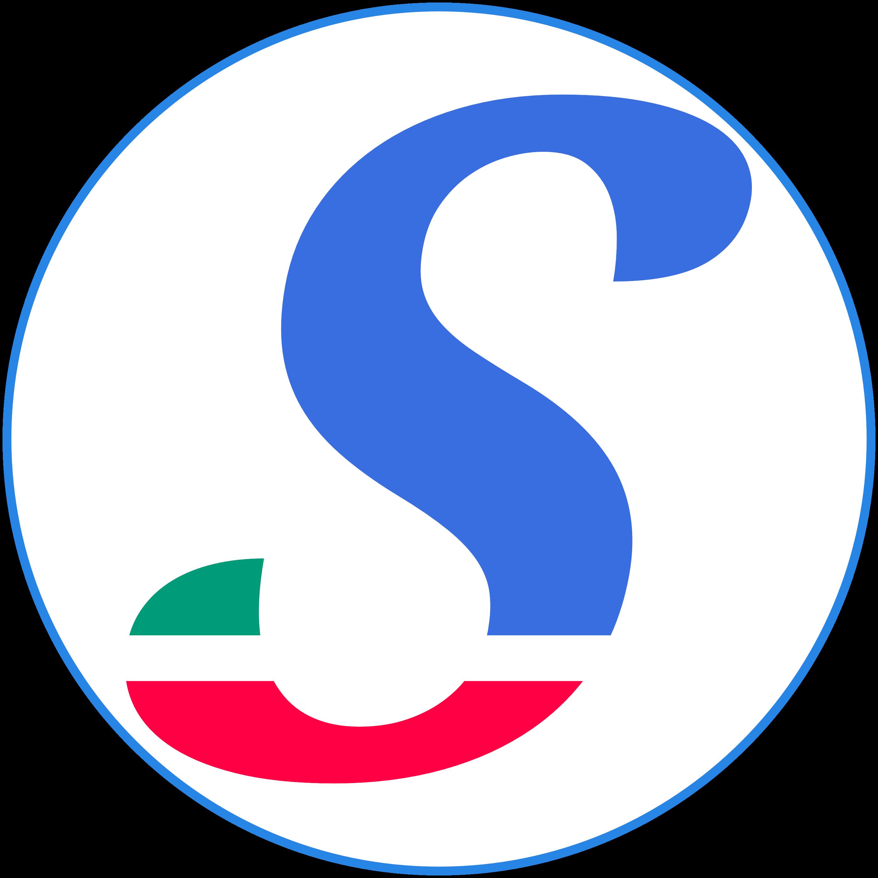 "Sheekore ""S"" full colored logo."