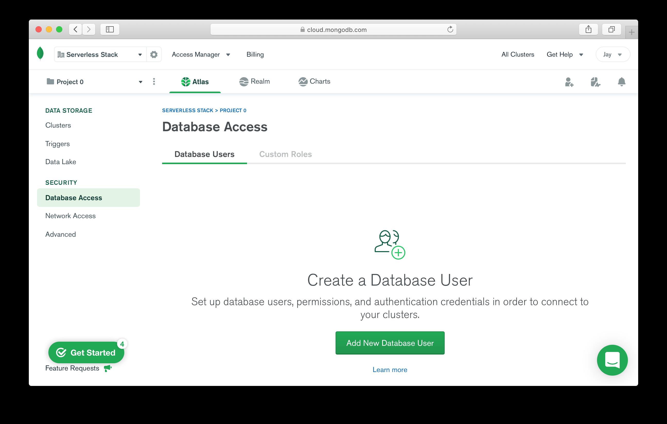 New MongoDB cluster created