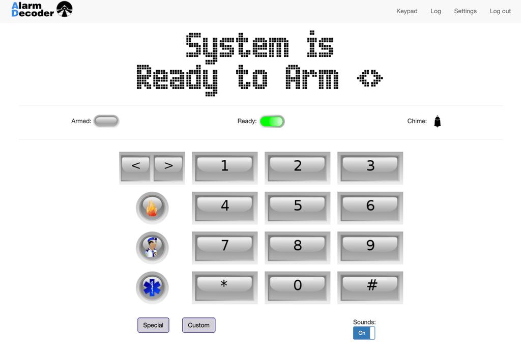 Alarm Decoder Web Interface