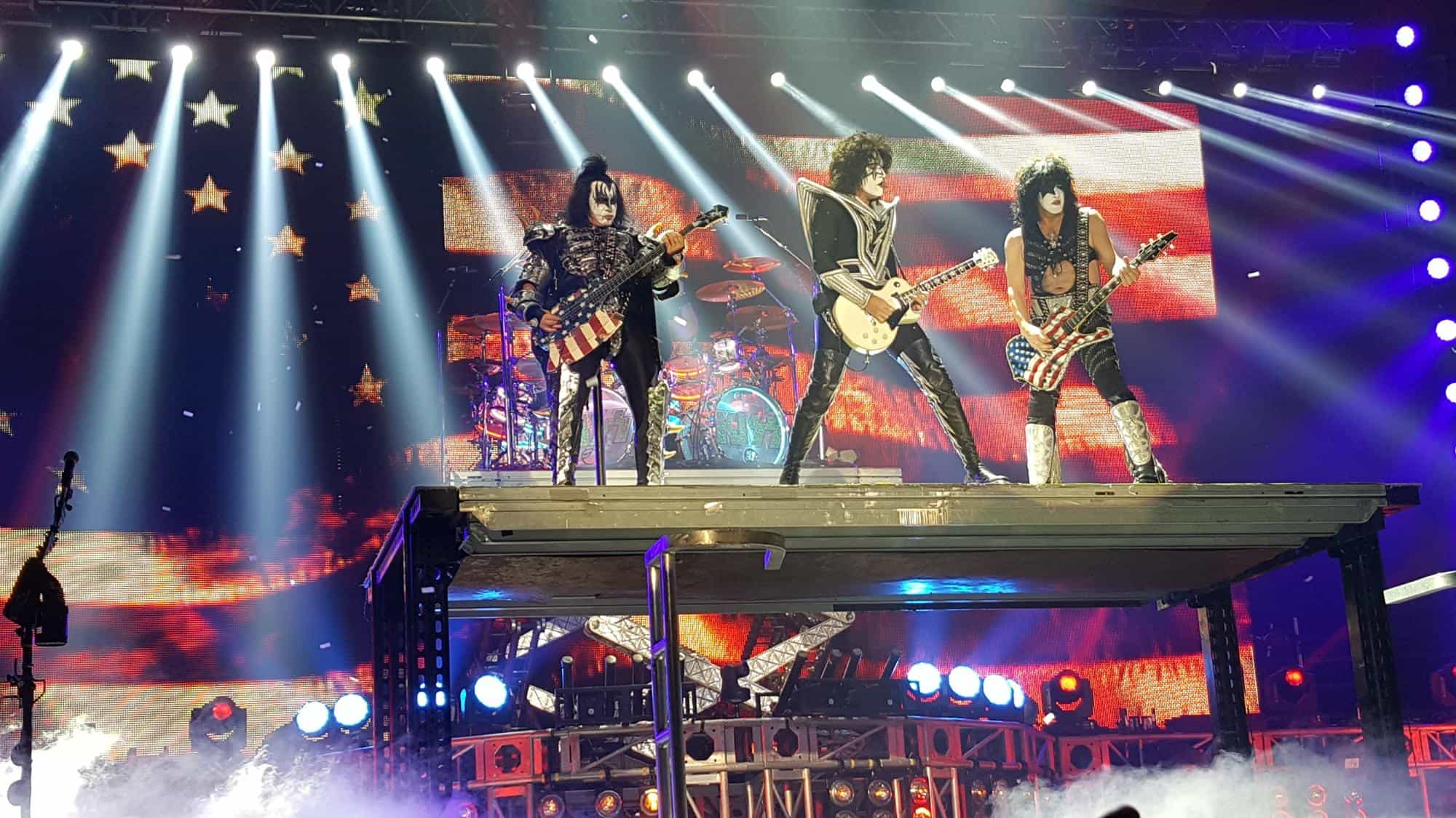 Kiss band on stage by John Pratt