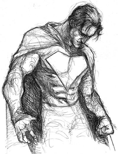 Superman Sad Sketch
