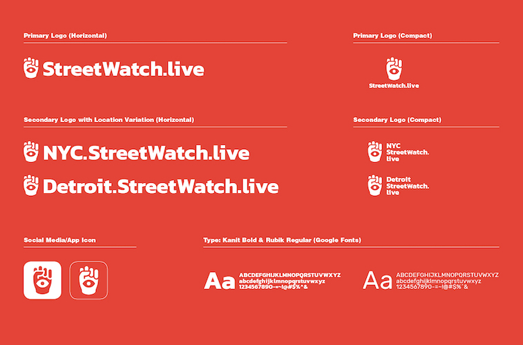 Streetwatch Live redesigns