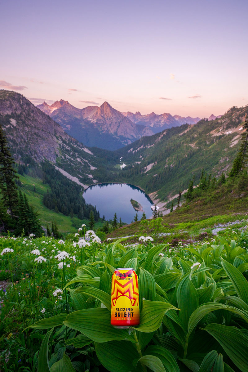 Blazing Bright on Maple Pass with a view of the North Cascades in Washington State