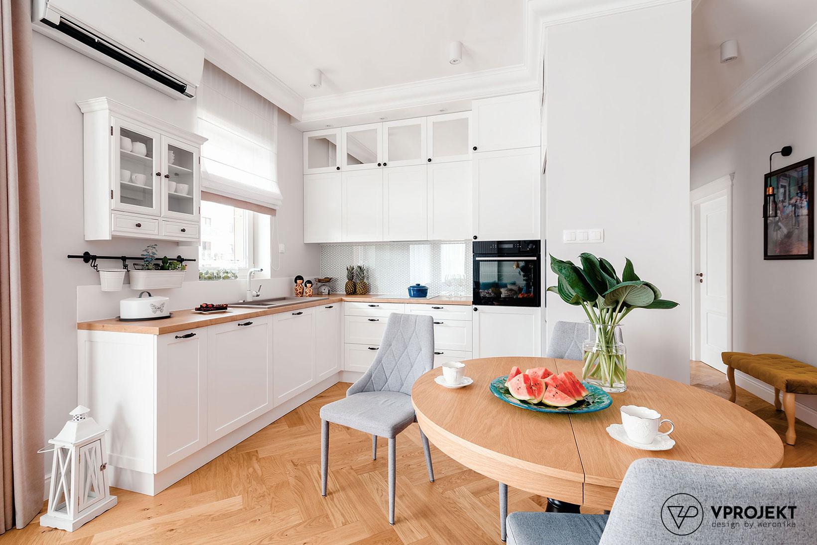 Projekt kuchni, mieszkanie w Olsztynie, Vprojekt