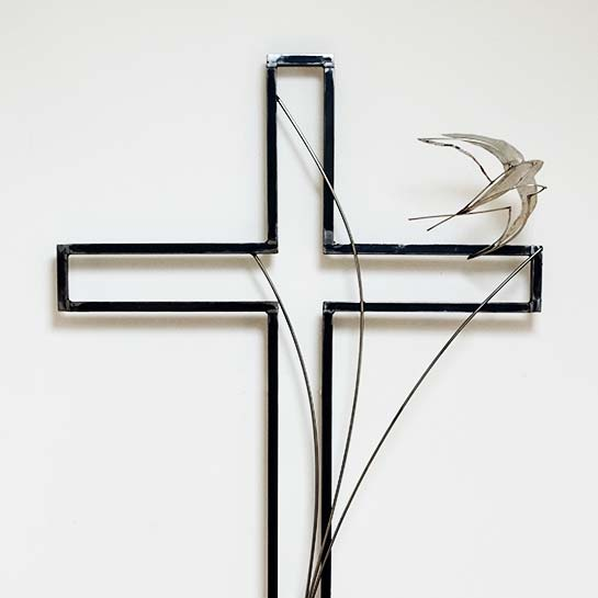 Cross, mild and stainless steel