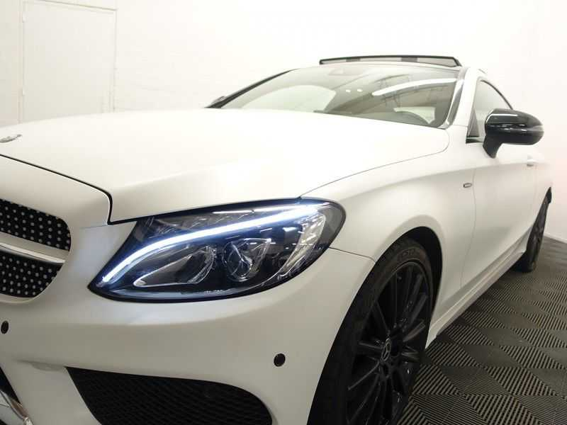 Mercedes-Benz C-Klasse Coupé 300 Prestige 245pk AMG Aut- Panodak, Leer, Camera, Navi, Xenon afbeelding 22