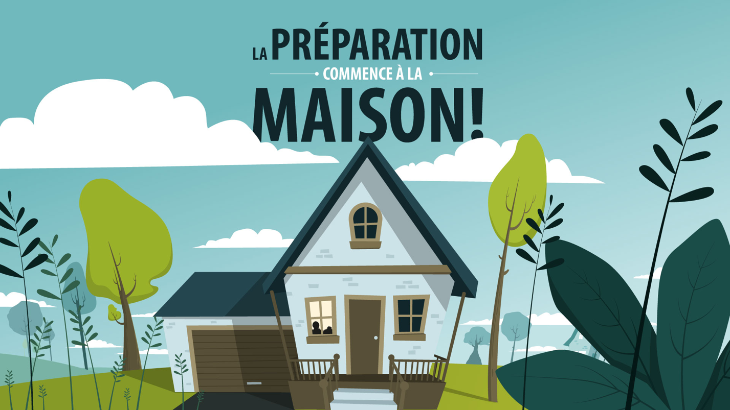Illustration from the motion design video public service announcement for the Ministère de la Sécurité Publique