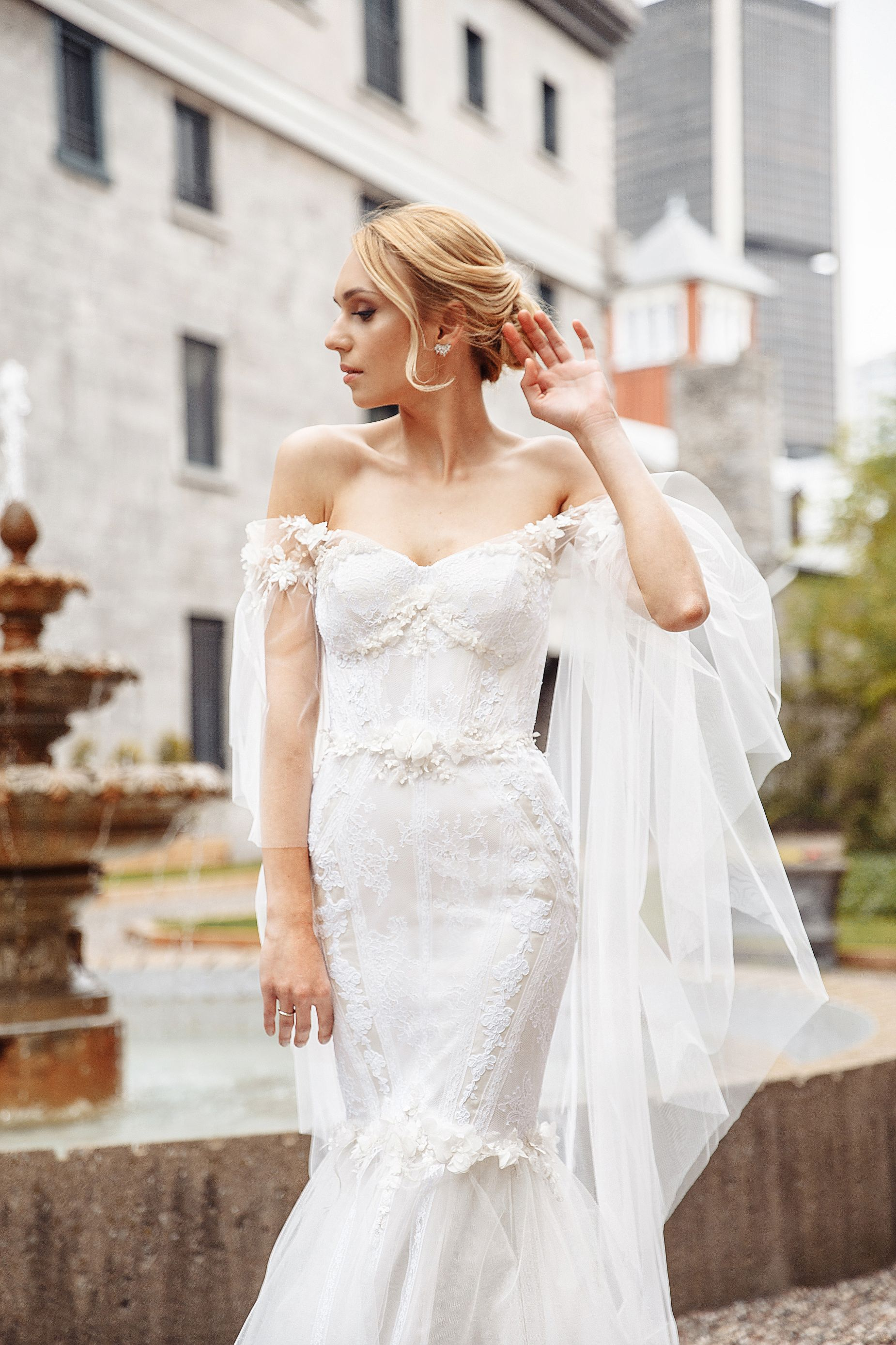 3 d flower wedding dresses montreal exclusive wedding gowns lilia haute couture