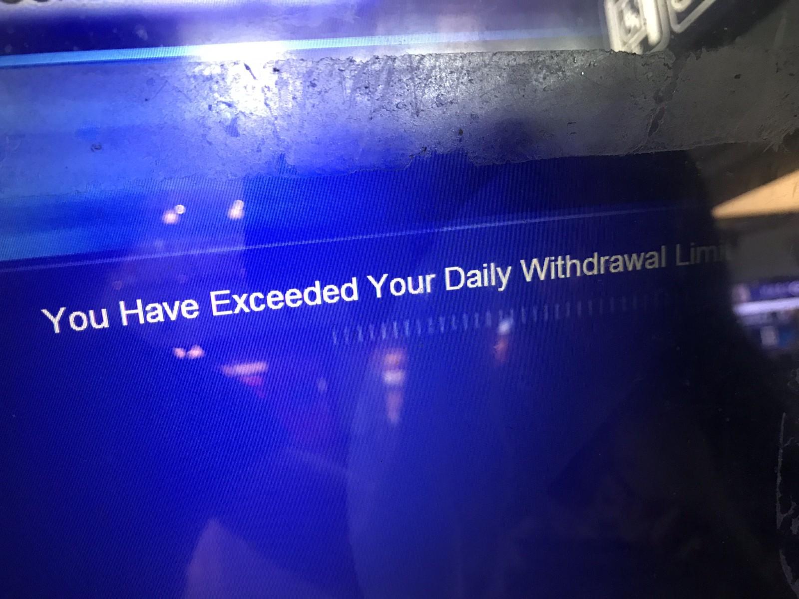 The ATM error.