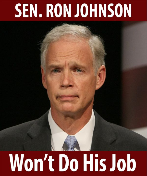 Senator Johnson won't do his job!