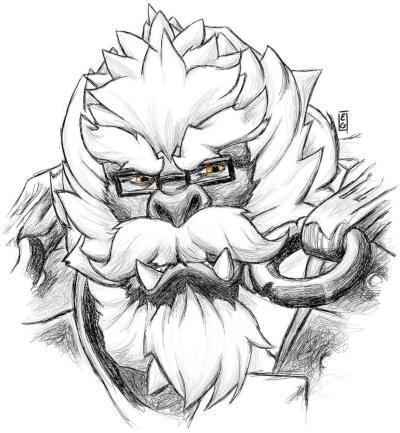 Wise Yeti Sketch