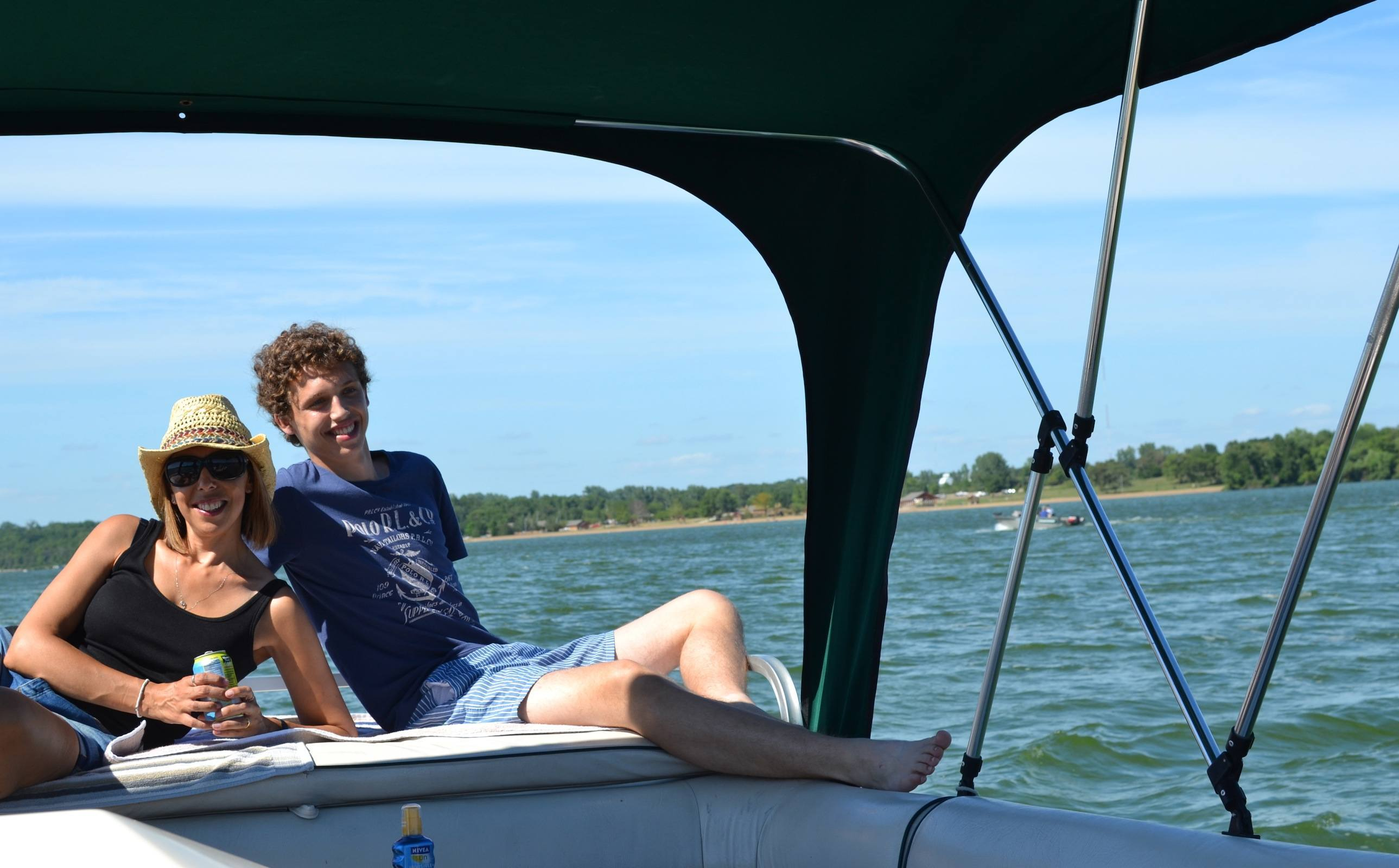 Chillin' at the stern (back of the boat)