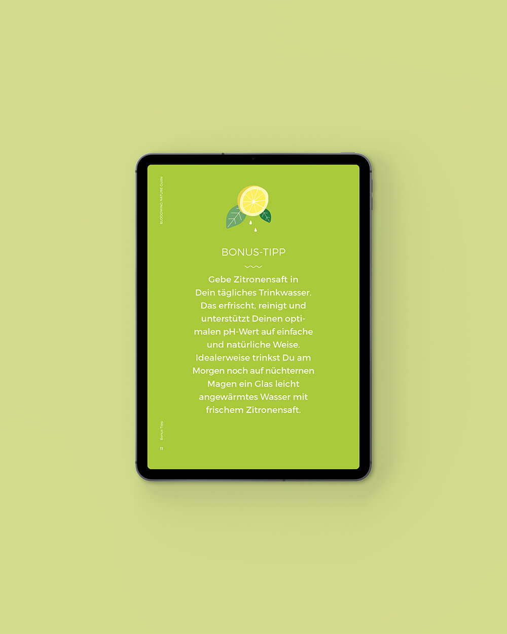 Inhaltsseite vom Bloooming Nature ebook: Bonus Tipp