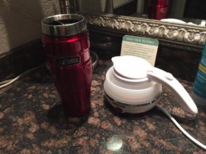 collapsed electric kettle