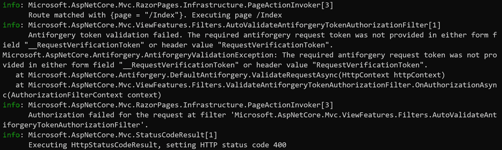 Log message with the underlying cause of the request failure