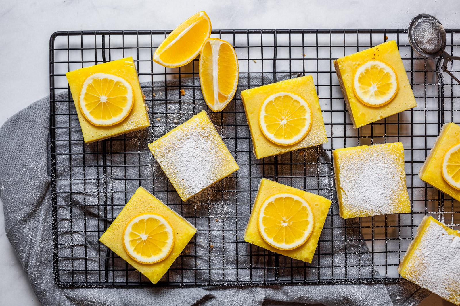 Classic Easy Meyer Lemon Bars With Shortbread Crust