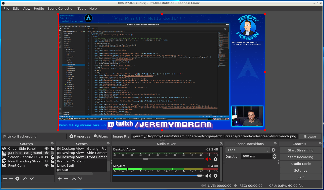 """""""How to install OBS in Arch Linux"""""""