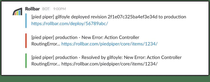 rollbar slack alert error