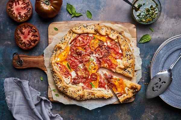 Tomato Feta Galette With Prosciutto