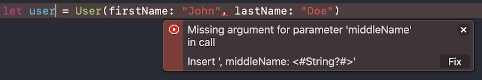 Missing argument error