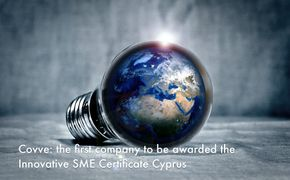 Covve: the first company to be awarded the Innovative SME Certificate in Cyprus