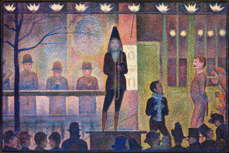 'Circus Sideshow (Parade de Cirque)' by Seurat, 1887–88, Metropolitan Museum of Art, New York