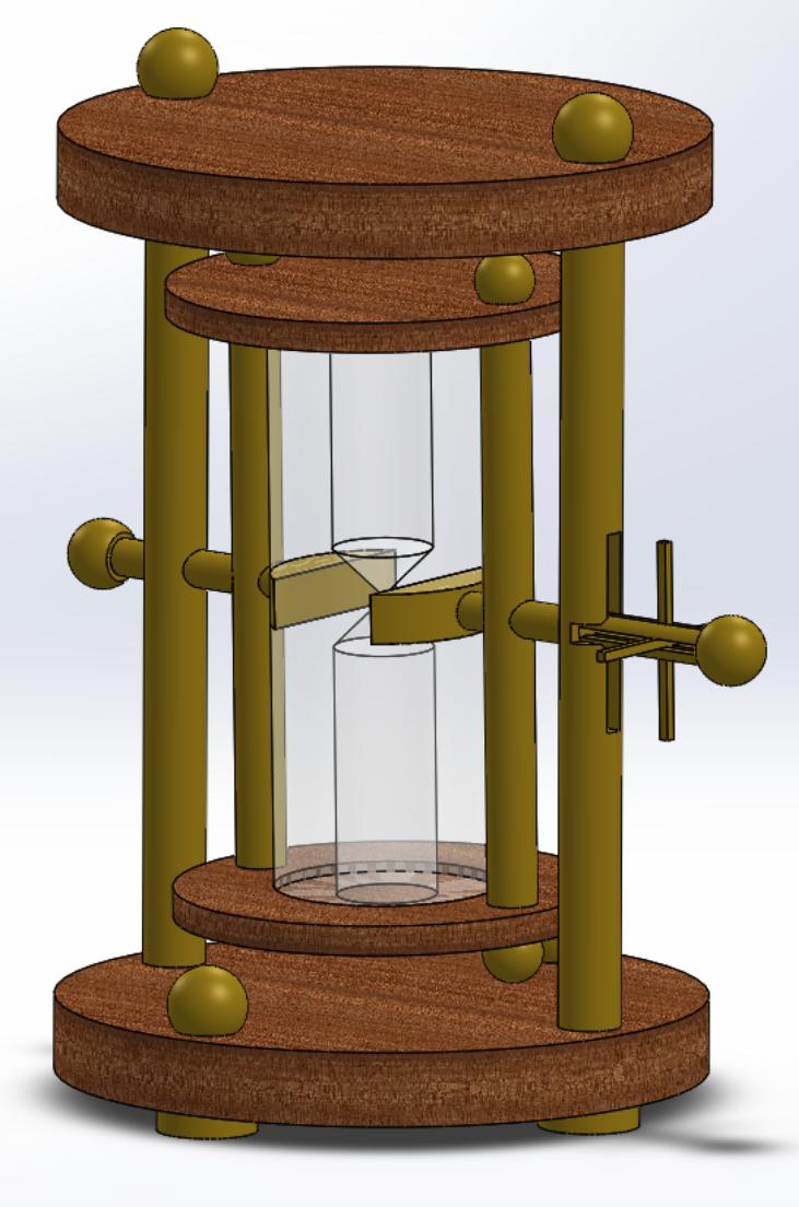CAD render of design
