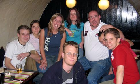 The Glebers in a pub, Bath