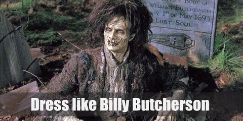 Billy Butcherson wears a rather dapper medieval-inspired ensemble (although it's rotting after centuries of being buried under the ground)